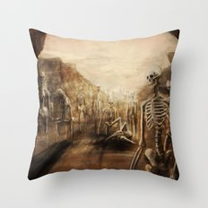 You See Bones Throw Pillow