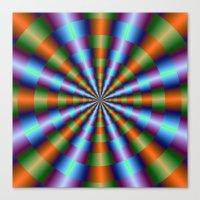 Orange Green Blue And Vi… Canvas Print