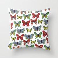 Flutterby Butterfly Throw Pillow