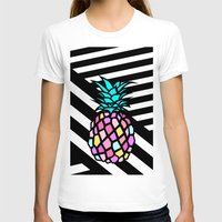pineapple Womens Fitted Tee White SMALL