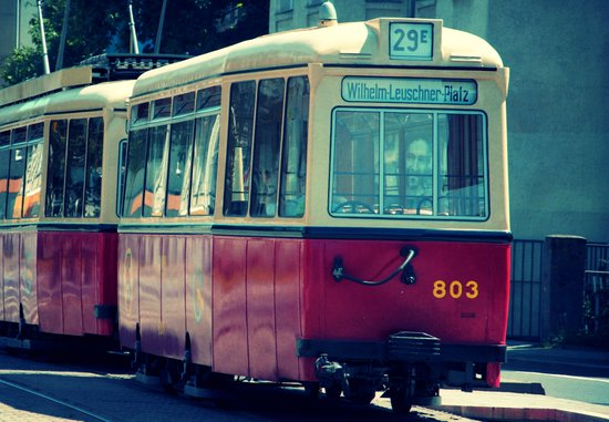Old Leipzig Tram  Art Print