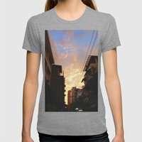 Urban Sunset Womens Fitted Tee Tri-Grey SMALL