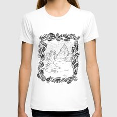 Pin Up 001 Womens Fitted Tee White SMALL