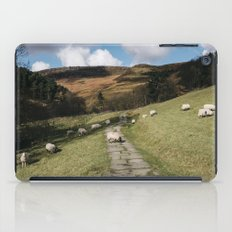 Stone footpath and grazing sheep. Edale, Derbyshire, UK. iPad Case