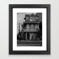 The House On The Corner Framed Art Print