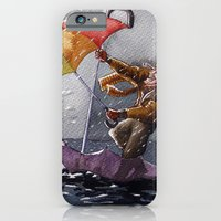 iPhone & iPod Case featuring Umbrella Man by Jose Luis Ocana
