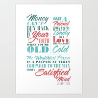 Satisfied Mind Art Print