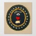 Hello eye heart ewe Canvas Print