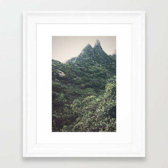 Hawaii Mountain Framed Art Print