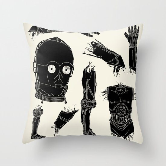 Decommissioned: C-3P0 Throw Pillow