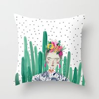 Frida Kahlo. Art, Print,… Throw Pillow