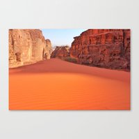Wadi Rum desert in Jordan Canvas Print