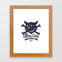 Alley Cats Framed Art Print