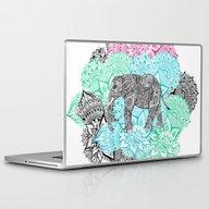 Laptop & iPad Skin featuring Boho Paisley Elephant Ha… by Girly Trend