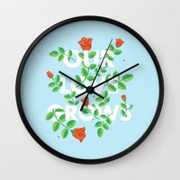 Our Love Grows Wall Clock