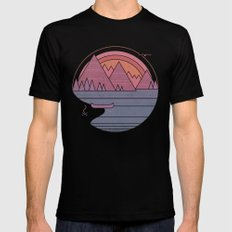 The Mountains are Calling Black SMALL Mens Fitted Tee