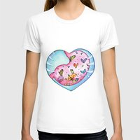 All a Flutter Womens Fitted Tee White SMALL