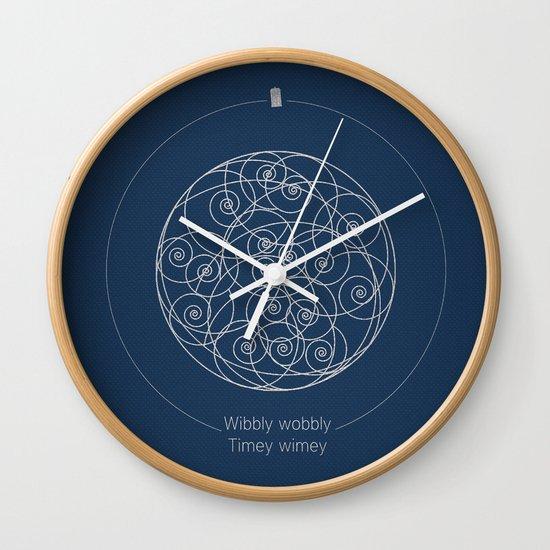 Doctor Who Wibbly Wobbly Wall Clock By Sof Andrade Society6