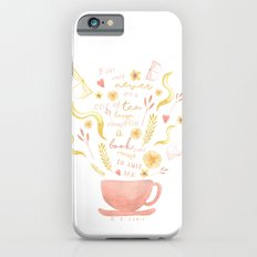 Hard To Find Books And Tea iPhone 6 Slim Case