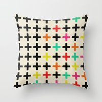 Plus Signs Throw Pillow