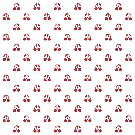 Mini Red Cherry Pattern Print Art Print