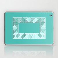 Greek Key turquoise Laptop & iPad Skin
