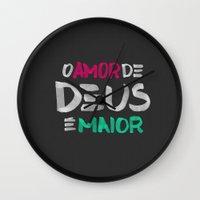 O AMOR DE DEUS É MAIOR Wall Clock