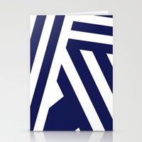 Nautical Stripes Stationery Cards