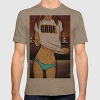 Gruf Mens Fitted Tee Tri-Coffee SMALL