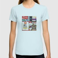 Consumption of goods Womens Fitted Tee Light Blue SMALL