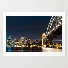 Sydney City Scape Art Print