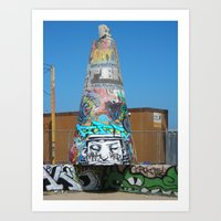 Graffiti On Venice Beach Art Print