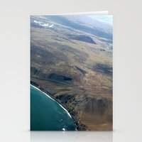 Iceland From Air Stationery Cards