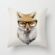 Mr. Fox Throw Pillow