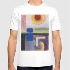 1996 v (c) SMALL White Mens Fitted Tee