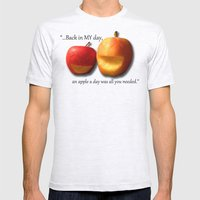 An Apple A Day... Mens Fitted Tee Ash Grey SMALL
