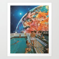 Moon Burn Art Print