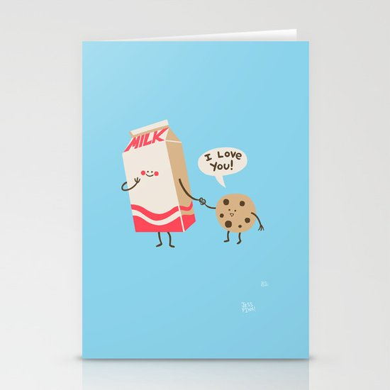 Cookie Loves Milk Stationery Card