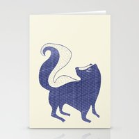 Blue Skunk Stationery Cards