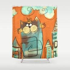 Retro Cat Shower Curtain