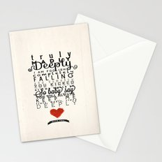 One Direction: Truly Madly Deeply Stationery Cards