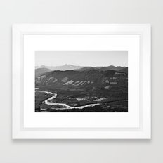 River In The Mountains B… Framed Art Print