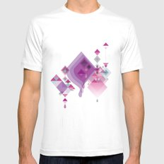 Abstract illustrations Mens Fitted Tee White SMALL