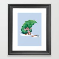 Enemies Hug IV Framed Art Print
