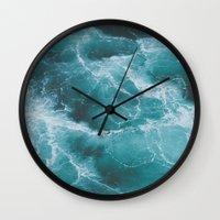 Electric Ocean Wall Clock