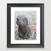 Beware of Bunny Framed Art Print