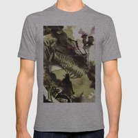 Steampunk Dragon Mens Fitted Tee Athletic Grey SMALL