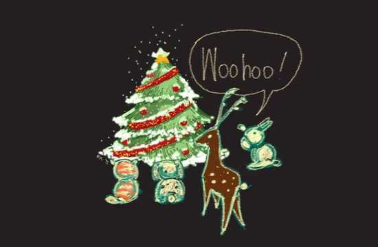 Woohoo Christmas! Art Print