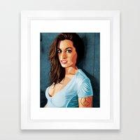 Hathaway Took My Heart Away Framed Art Print