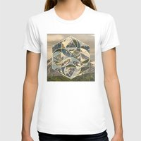 Geometric Mountains 1 Womens Fitted Tee White SMALL